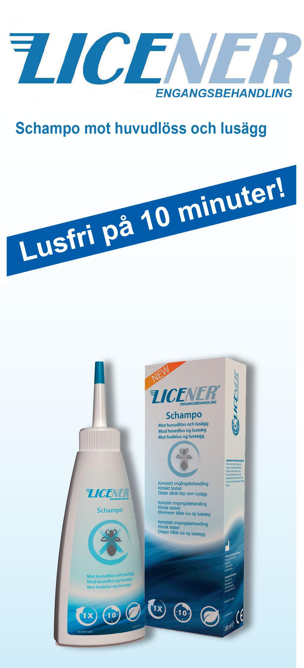 Licener – schampo mot löss och lusägg