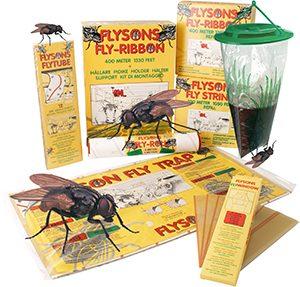 flugor, ohyra, flugfällor, klisterfällor, Flyson, fly city